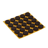Brown Felt Protection pad (Dia)13mm, Pack of 25