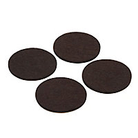 Brown Felt Protection pad (Dia)50mm, Pack of 4