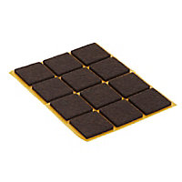 Brown Felt Protection pad (W)24mm, Pack of 12