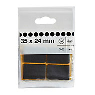 Brown Felt Protection pad (W)35mm, Pack of 8