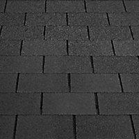 BTM Dark grey Square shingle Roofing felt, (L)1m (W)0.33m