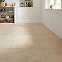 Burgundy Cream Matt Stone effect Porcelain Wall & floor Tile, Pack of 9, (L)330mm (W)330mm
