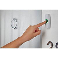 Byron White Wireless Battery & mains-powered Door chime kit