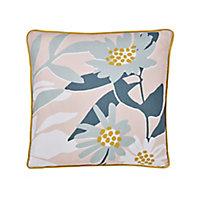 Cabochon Floral Multicolour Cushion (L)45cm x (W)45cm