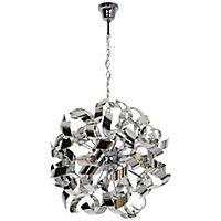 Caladane Chrome effect 4 Lamp Pendant ceiling light, (Dia)500mm