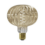 CALEX Pulse Metz 4W 200lm Globe Extra warm white LED Dimmable Filament Light bulb