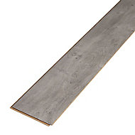 Caloundra Grey Gloss Oak effect Laminate Flooring Sample