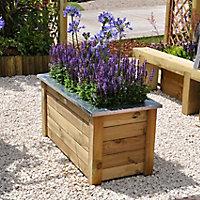 Cambridge Wooden Rectangular Planter 100cm