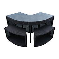 Canadian Spa Brown Rattan Corner bar & stools