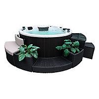 Canadian Spa Brown Rattan Furniture set