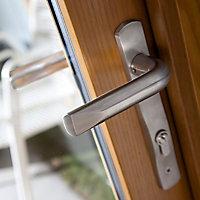 Canberra 1 Lite Glazed Laminated Golden Oak External French Door set, (H)2105mm (W)1205mm