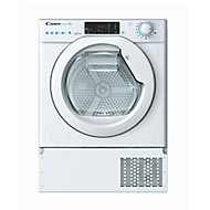 Candy BCTDH7A1TE-80 White Built-in Heat pump Tumble dryer, 7kg