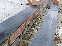 Capital Valley Plastics Ltd Black 500 Micron Damp proof course, (L)30m (W)112mm
