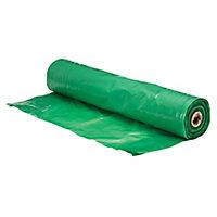 Capital Valley Plastics Ltd Green 125 Micron Moisture barrier, (L)15m (W)2.5m