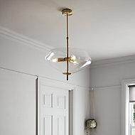 Capolin Brushed Brass effect 3 Lamp Pendant ceiling light, (Dia)450mm