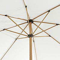 Capraia 3m Bright white Standing parasol