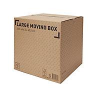 Cardboard Moving box (H)450mm (L)460mm (W)460mm