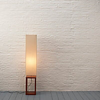 Cargo Dark brown & cream Floor lamp