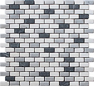 Carrera Multicolour Marble Mosaic tile, (L)321mm (W)304mm