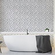 Carrera White Mirror effect Glass Mosaic tile, (L)298mm (W)308mm