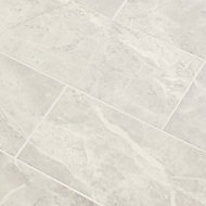 Castles Silver Gloss Plain Marble effect Ceramic Wall tile, Pack of 14, (L)500mm (W)200mm