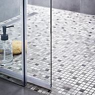 Catane Brown & grey Natural stone Mosaic tile, (L)300mm (W)300mm