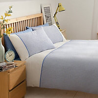 Chartwell Chicago Striped Blue Double Bedding set