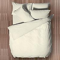 Chartwell Easy care Plain Cream Single Bedding set