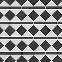 Chikago Black & white Natural stone Border tile, (L)265mm (W)100mm