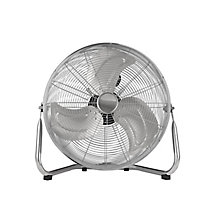 "Chrome effect 18"" 110W Air circulation Floor fan"