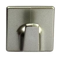 Chrome effect Acrylonitrile butadiene styrene (ABS) Medium Hook (H)50mm, Pack of 2