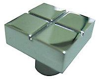 Chrome effect Zinc alloy Square Furniture Knob