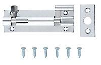 Chrome-plated Brass Barrel N238 Door bolt (L)76mm (W)25mm