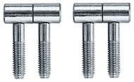 Chrome-plated Metal Barrel Door hinge (L)34mm, Pack of 2