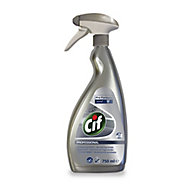 Cif Professional unscented Stainless steel Cleaner, 750ml Trigger spray bottle