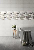 Cimenti Dove Matt Decor Ceramic Wall Tile, Pack of 10, (L)402.4mm (W)251.6mm