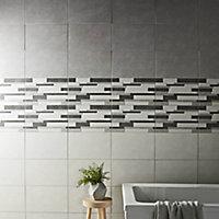 Cimenti Grey Matt Linear Ceramic Wall tile, (L)400mm (W)250mm, Sample