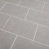 Cimenti Light grey Matt Ceramic Wall Tile, Pack of 10, (L)402.4mm (W)251.6mm