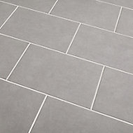 Cimenti Light grey Matt Concrete effect Ceramic Wall tile, Pack of 10, (L)402.4mm (W)251.6mm