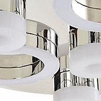 Circus Chrome effect 7 Lamp Ceiling light