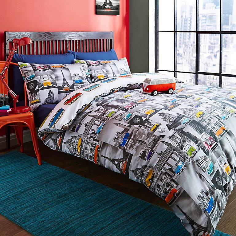 City Camper Van Multicolour Double, City Bedding Sets