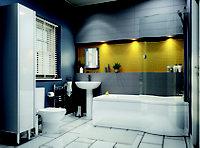 City chic Grey Matt Plain Stone effect Ceramic Wall tile, (L)400mm (W)150mm, Sample