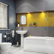 City chic Grey Matt Stone effect Ceramic Wall Tile, Pack of 17, (L)400mm (W)150mm