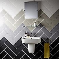 City chic Matt Plain Stone effect Ceramic Wall Tile Sample