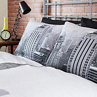 Cityscape Empire State Black King Bedding set
