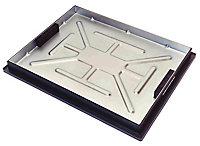 Clark Rectangular Framed Recessed 5t Manhole cover, (L)600mm (W)450mm (T)55mm