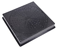 Clark Square Framed 3.5t Manhole cover, (L)450mm (W)560mm (T)80mm