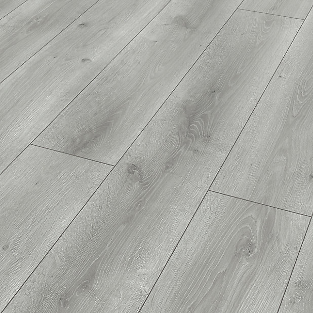 Classen Grey Oak Effect Laminate, Light Grey Oak Effect Laminate Flooring