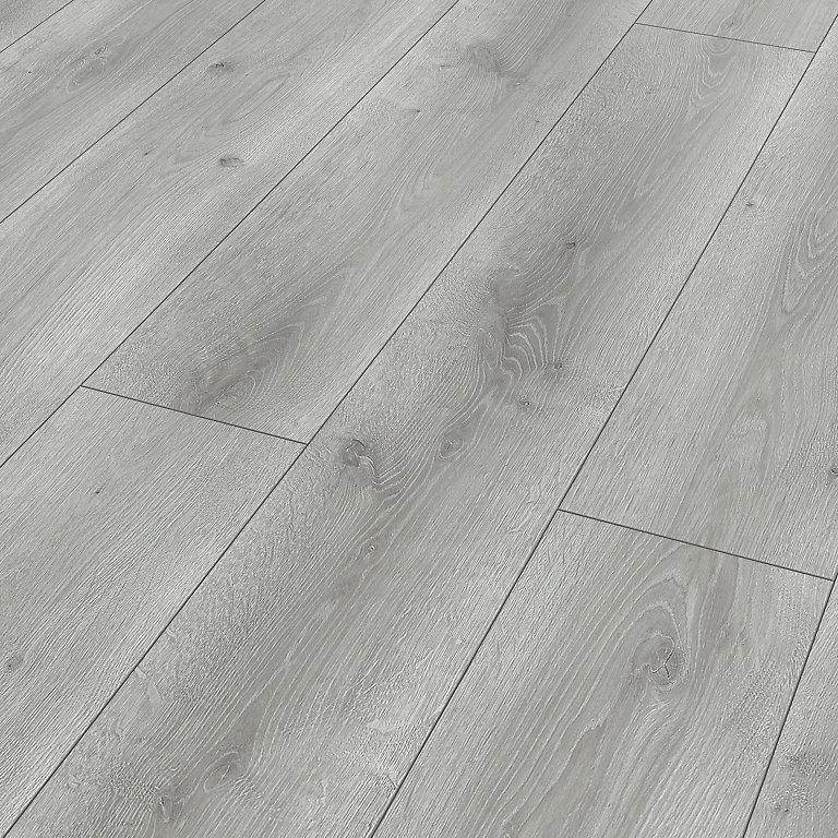 Classen Grey Oak Effect Laminate, Water Resistant Laminate Flooring