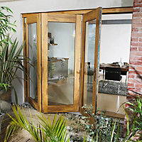 Clear Glazed Timber Patio Patio door set, (H)2105mm (W)2105mm